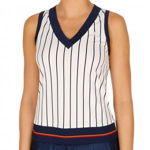 adidas - New York Striped Tank Top Tenis Femei alb/bleumarin/multicolor