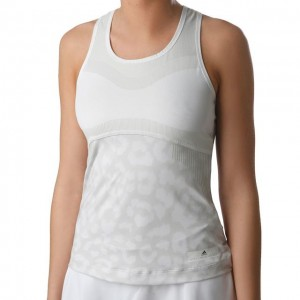 adidas - by Stella McCartney Court Tank Top Tenis Femei Alb/Gri deschis
