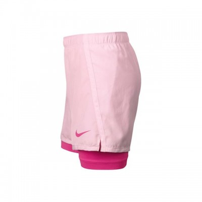 Nike - Dry 2 in1 Short Tenis Fete Roz deschis/Roz fuchsia