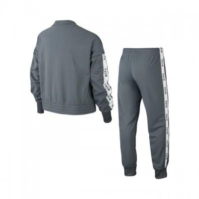 Nike - Sportswear Tricot Trening Poliester Fete (Copii) Gri/Alb
