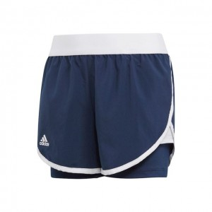 adidas - Club 2 In 1 Short Tenis Fete Bleumarin/Alb
