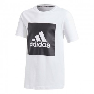 adidas - Must Have Badge Of Sports Tee Tricou Tenis Baieti Alb/Negru