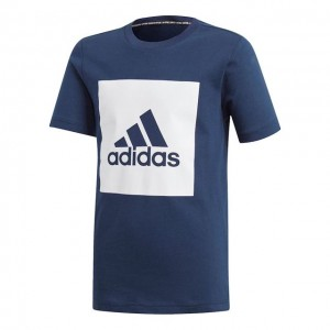 adidas - Must Have Badge Of Sports Tee Tricou Tenis Baieti Bleumarin/Alb
