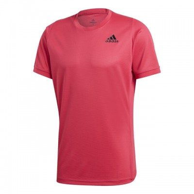 adidas - Freelift Solid Heather Tee Tricou Tenis Barbati Roz/Negru