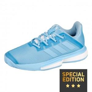 adidas - Sole Match Bounce All Court Incaltaminte Tenis Femei Albastru deschis/Alb