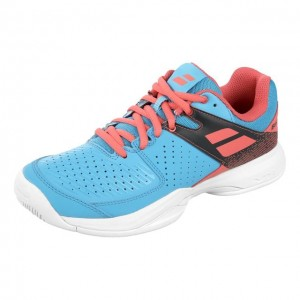 Babolat - Pulsion All Court Incaltaminte Tenis Femei Albastru deschis/Rosu coral/Bleumarin/Alb