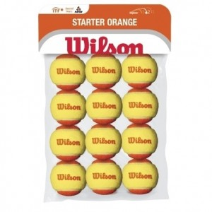 Wilson-Set 12 Mingi Tenis Starter Orange