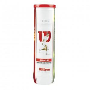 Wilson-Set 4 Mingi Tenis Pentru Zgura Tour Red