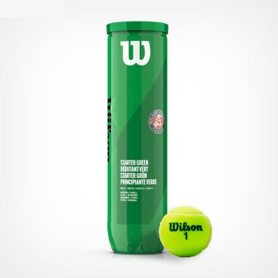 Wilson - Roland Garros Starter Green (Stage 1) Cutie 4 Buc. Mingi Tenis Copii 8-10 Ani