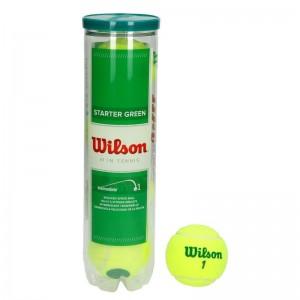 Wilson - Starter Play Green (Stagiu 1) Cutie 4 Buc. Mingi Tenis Copii