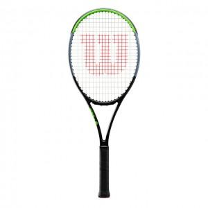 Wilson - Blade 101L V7.0 Tour Racheta Tenis De Camp Competitionala Negru/Verde Deschis/Argintiu