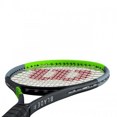 Wilson - Blade 98 V7.0 16x19 Tour Racheta Tenis de Camp Competitionala Negru/Verde deschis/Argintiu
