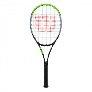 Wilson - Blade 98 V7.0 18x19 Tour Racheta Tenis De Camp Competitionala Negru/Verde deschis/Argintiu