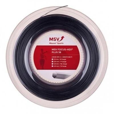 MSV- Racordaj Tenis Focus-HEX Plus 38 Negru 200m