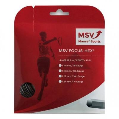 MSV-Racordaj tenis Focus-HEX 12m Negru