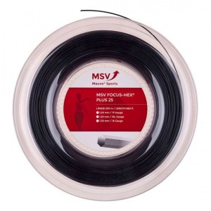 MSV-Racordaj tenis Focus HEX Plus 25 Negru 200m