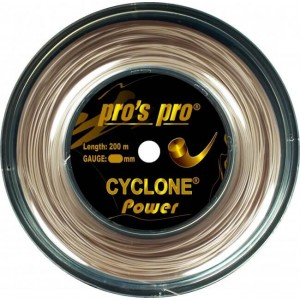 Pro's Pro - Cyclone Power Racordaj Tenis Rola 200m  Auriu metalizat