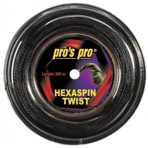 Pros Pro - Hexaspin Twist Racordaj Tenis negru 200m Grosime 1.20mm