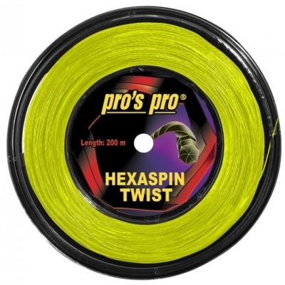 Pro's Pro - Hexaspin Twist Racordaj Tenis Rola 200m Galben neon