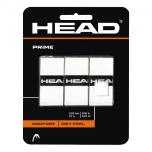 HEAD - Prime 3 Pack  Set 3 Buc Overgrip alb