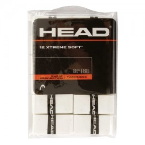 HEAD - Xtreme Soft 12 Pack Set 12 Buc Overgrip Perforat alb