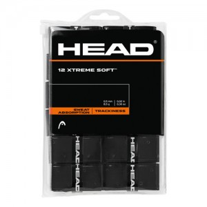 HEAD - Xtreme Soft 12 Pack Set 12 Buc Overgrip Perforat Negru
