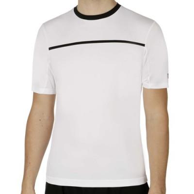 Wilson-Tricou Tenis Barbati Team Crew Alb