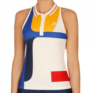adidas - Simona Halep New York Color Blocked Tank Top Tenis Femei alb/multicolor