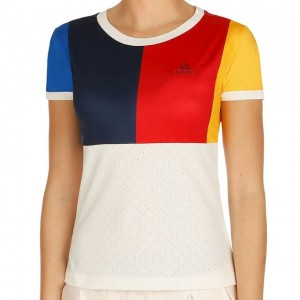 adidas - Simona Halep New York Color Blocked T-Shirt Tricou Tenis Femei alb/multicolor
