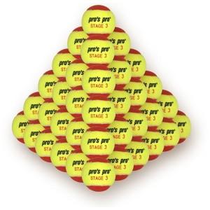 Pro's Pro Stage 3 - Punga 60 buc Mingi Tenis Copii galben/rosu