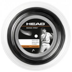 Head - Sonic Pro Rola Racordaj Tenis 200m Negru