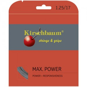 Kirschbaum - Max Power Argintiu Racordaj Tenis de Camp Plic 12 m