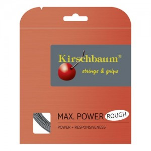 Kirschbaum - Max Power Rough Argintiu Racordaj Tenis de Camp Plic 12 m