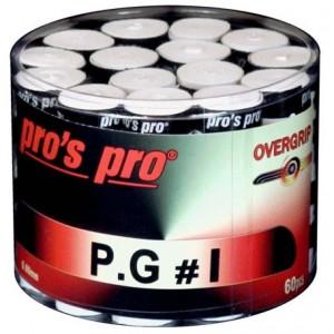 Pro's Pro P.G 1 - Overgrip Perforat Cutie 60 Buc Alb