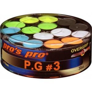 Pro's Pro P.G 3 - Overgrip Perforat Cutie 30 Buc Multicolor