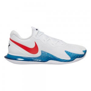 Nike Incaltaminte Barbati pentru Zgura Rafael Nadal Air Zoom Vapor Cage 4 Alb Albastru