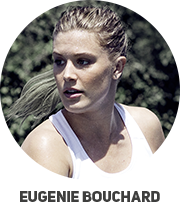 Tenisz felszerelés amelyet Eugenie Bouchard használ